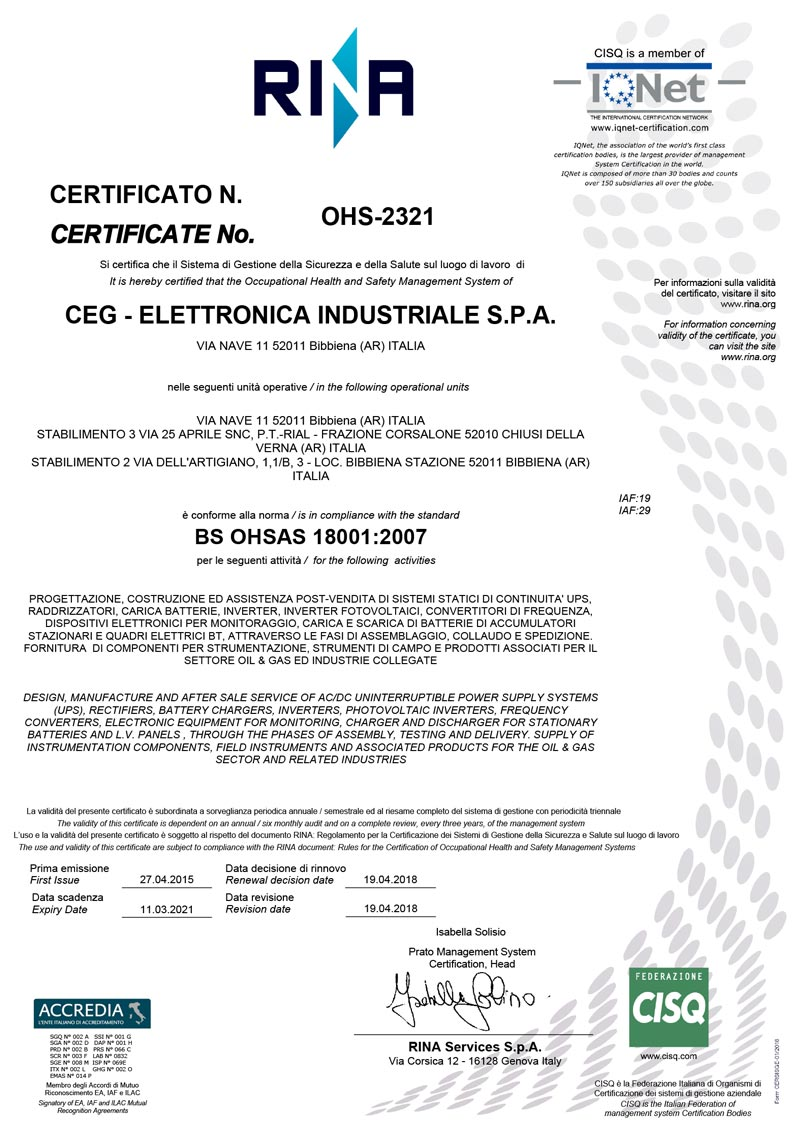 OHSAS 18001 OHS 2321