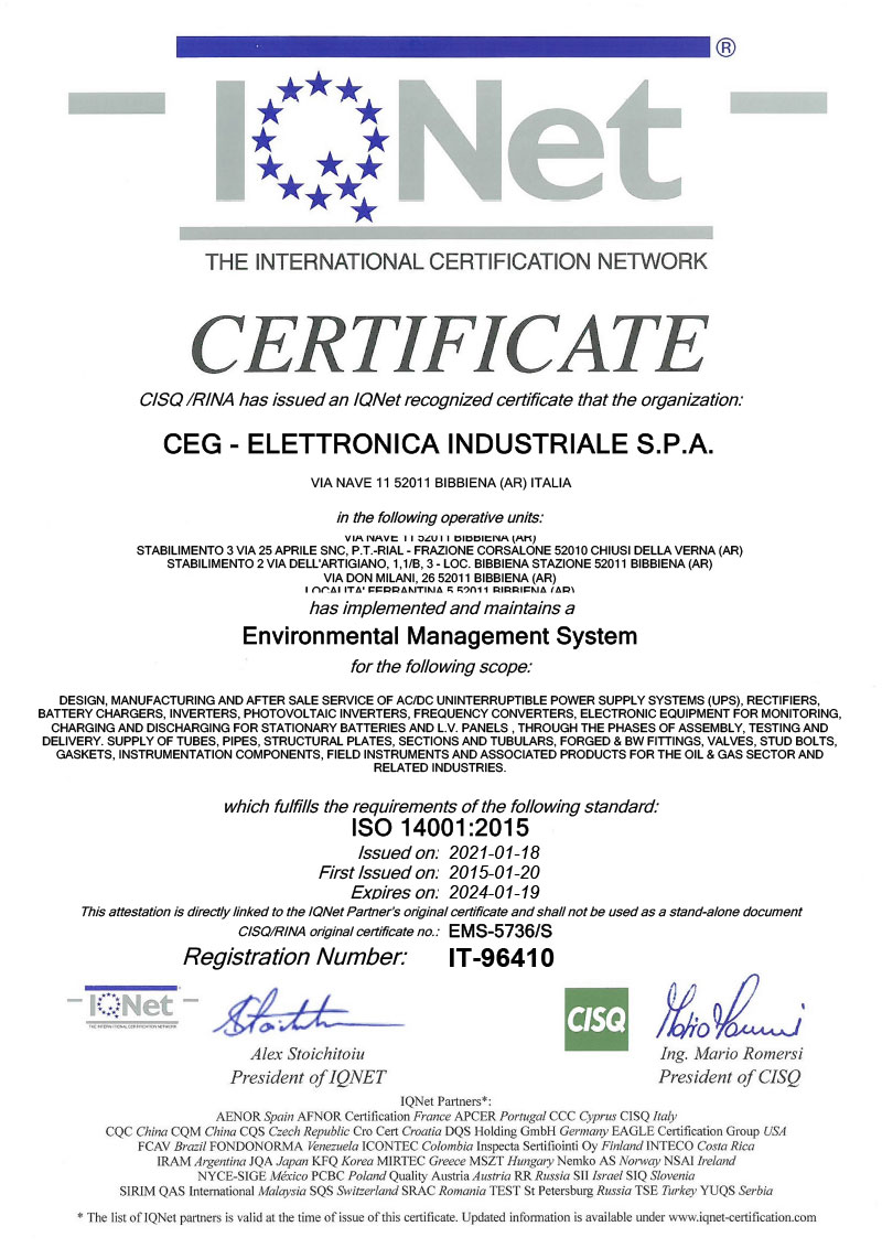 ISO 14001 2015 Iqnet