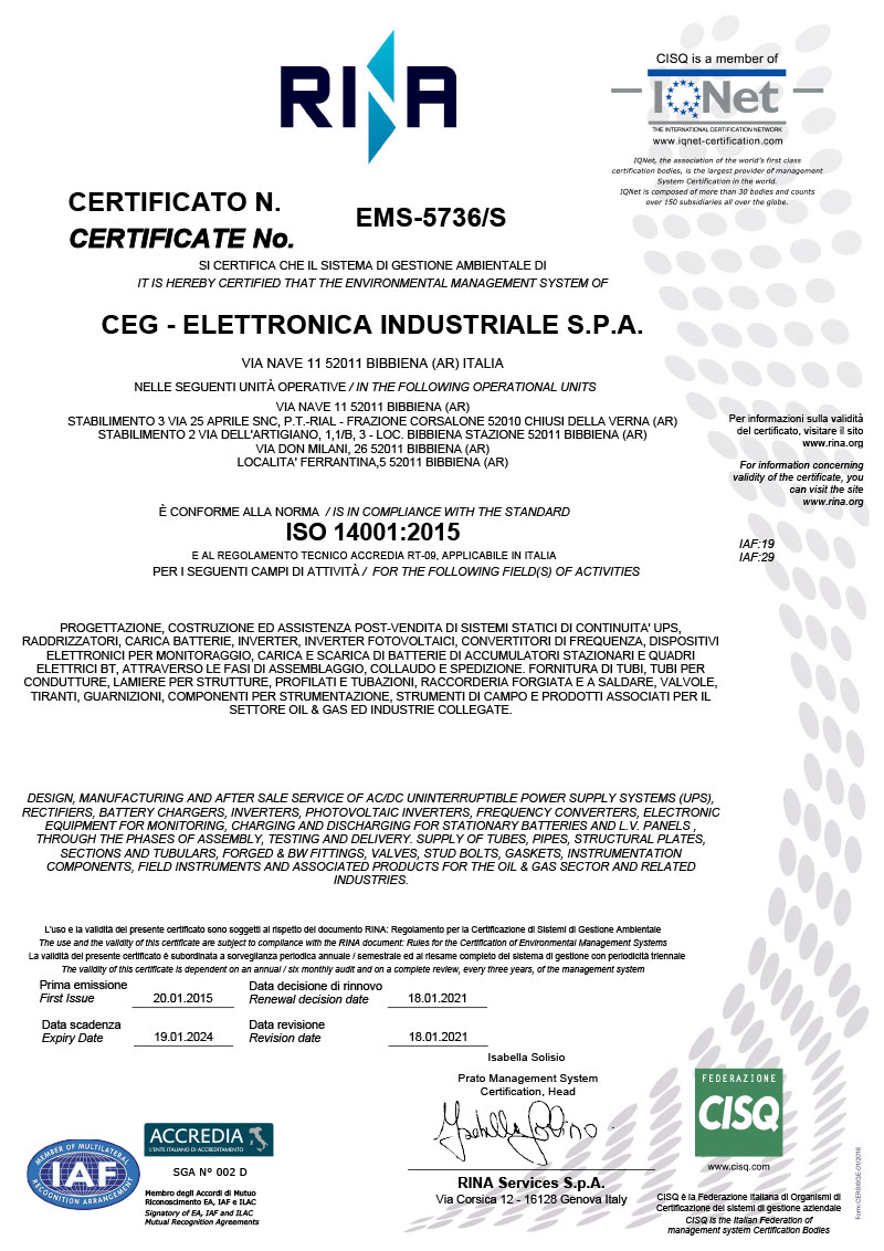 ISO 14001 2015 Signed
