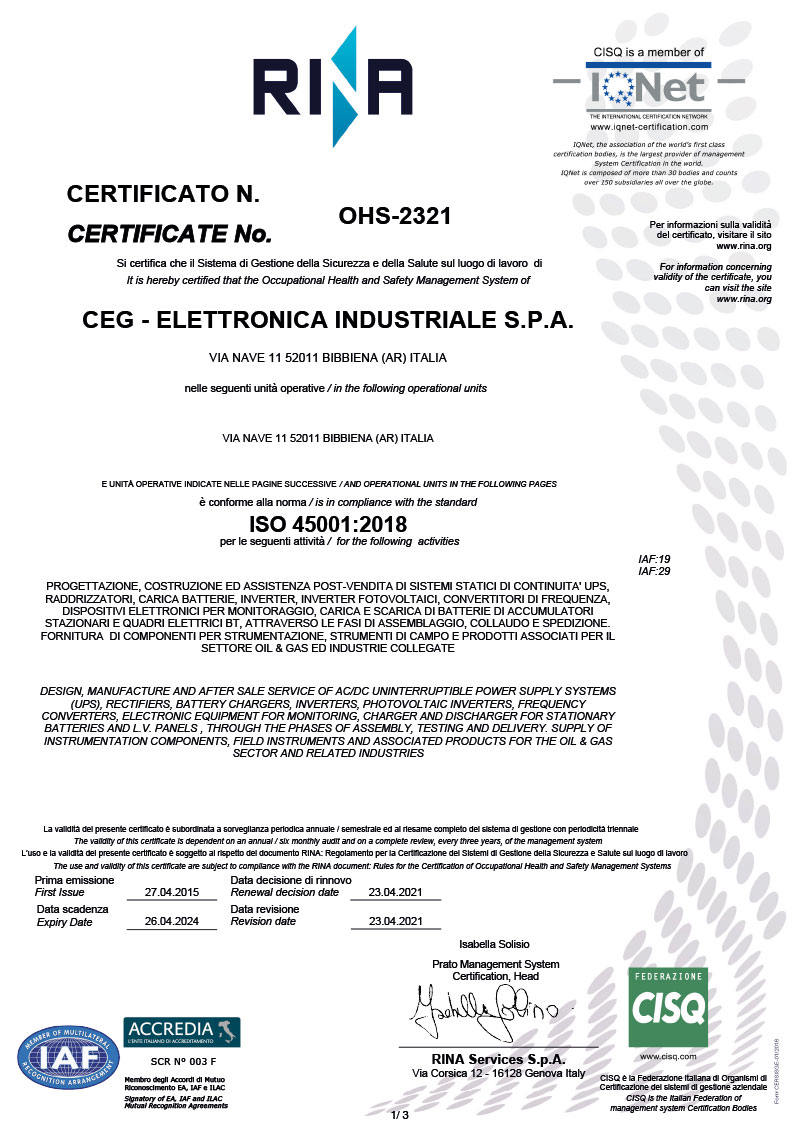 ISO 45001 2018 Signed